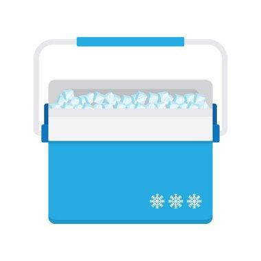 Bag refrigerator icon. Cooler symbol