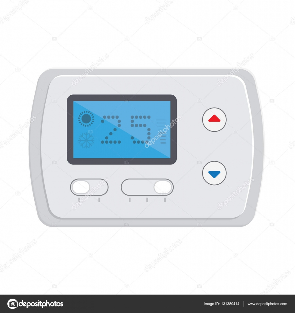Temperaturregler Elektronische Thermostat Mit Einem Bildschirm