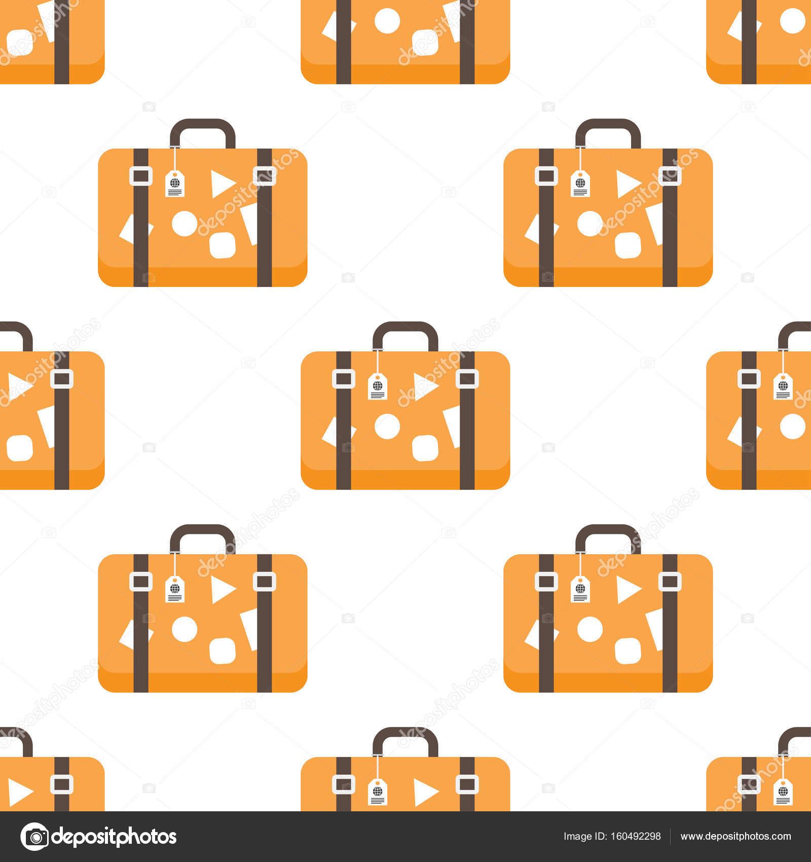 patrón con bolsas de viaje — Vector de stock © Makc76 #160492298
