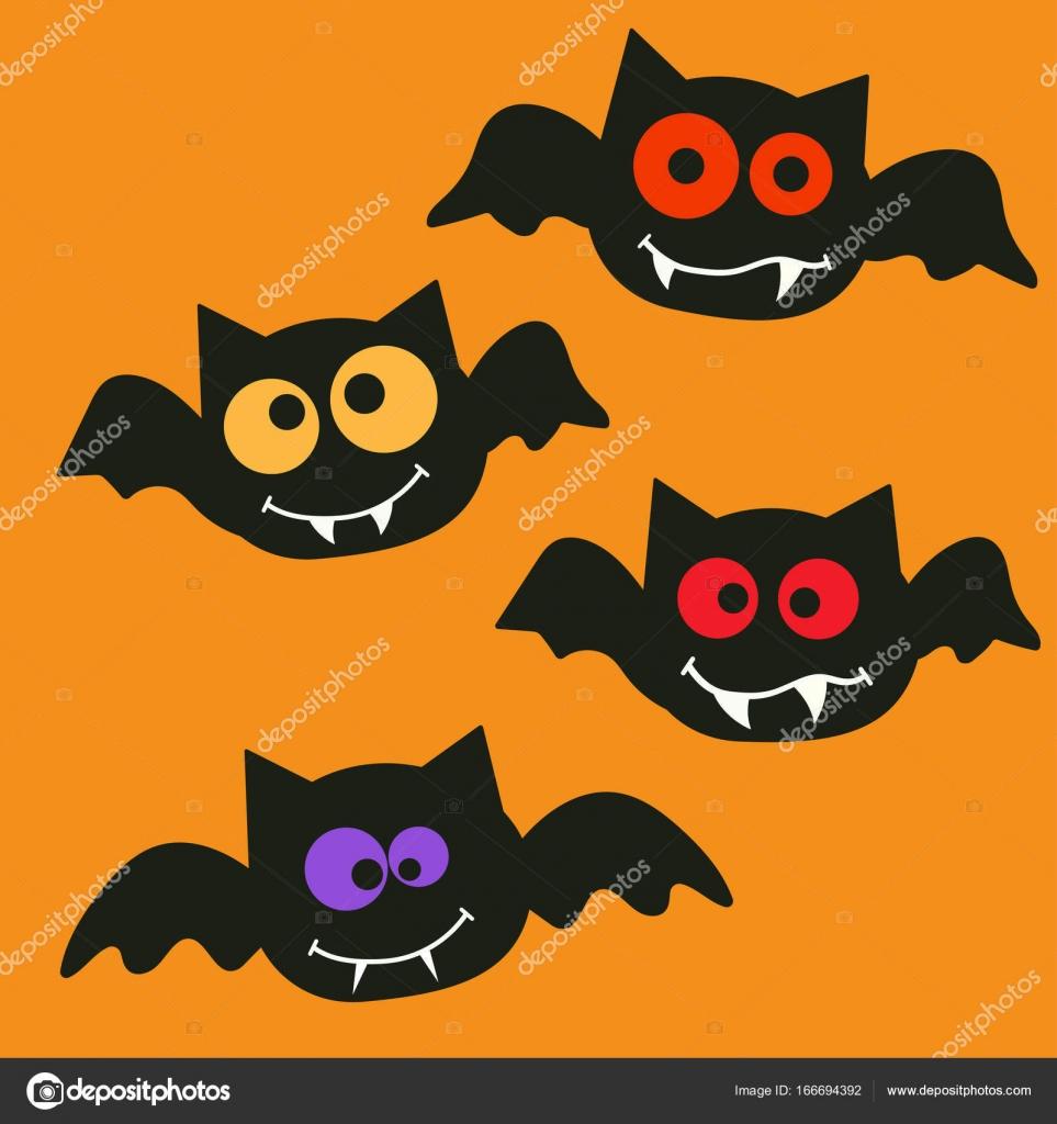 Dibujos Batman En Color Feliz Halloween Murciélagos Vector De