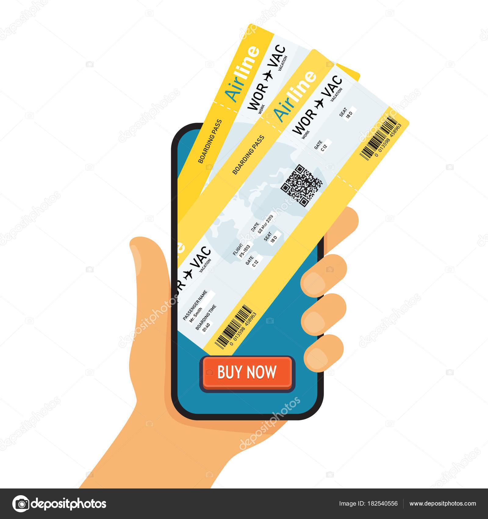 Marcado de reserva en línea. Comprar Ticket en línea — Vector de ...