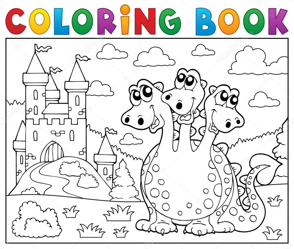 Disegni Da Colorare Drago Libro Vicino Al Tema Del