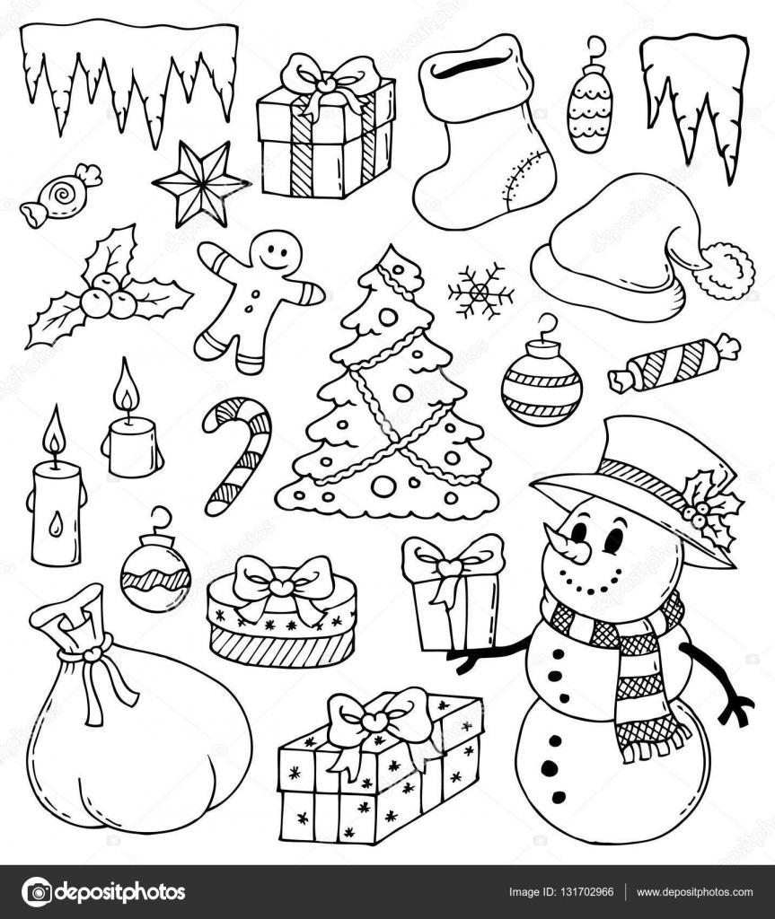 Disegni Di Natale Stilizzato 3 Vettoriali Stock Clairev 131702966
