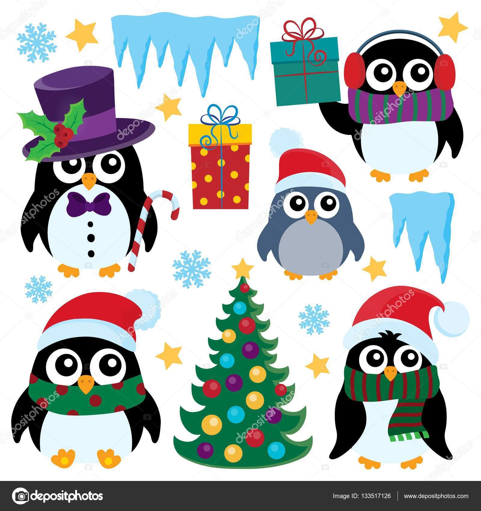 Immagini Stilizzate Di Natale.Immagini Pinguini Stilizzate Pinguini Di Natale