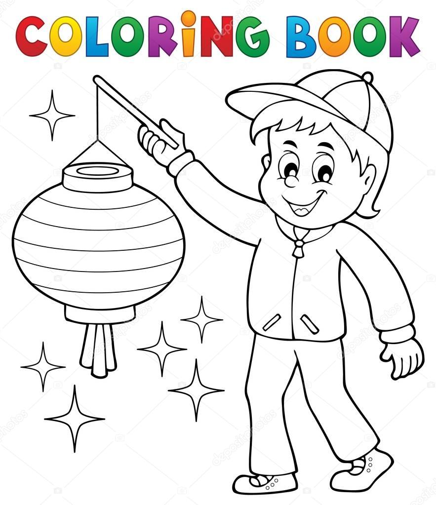 kleurplaat boek jongen met lion stockvector 169 clairev