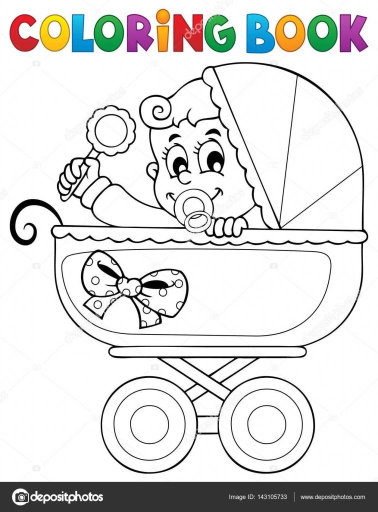 Boyama Kitabı Bebek Tema Resim 5 Stok Vektör Clairev 143105733