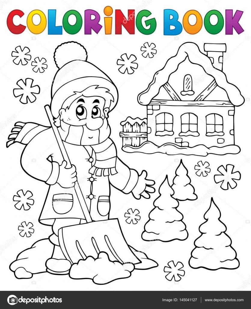 Coloring Book Winter-Thema 3 — Stockvektor © clairev #145041127