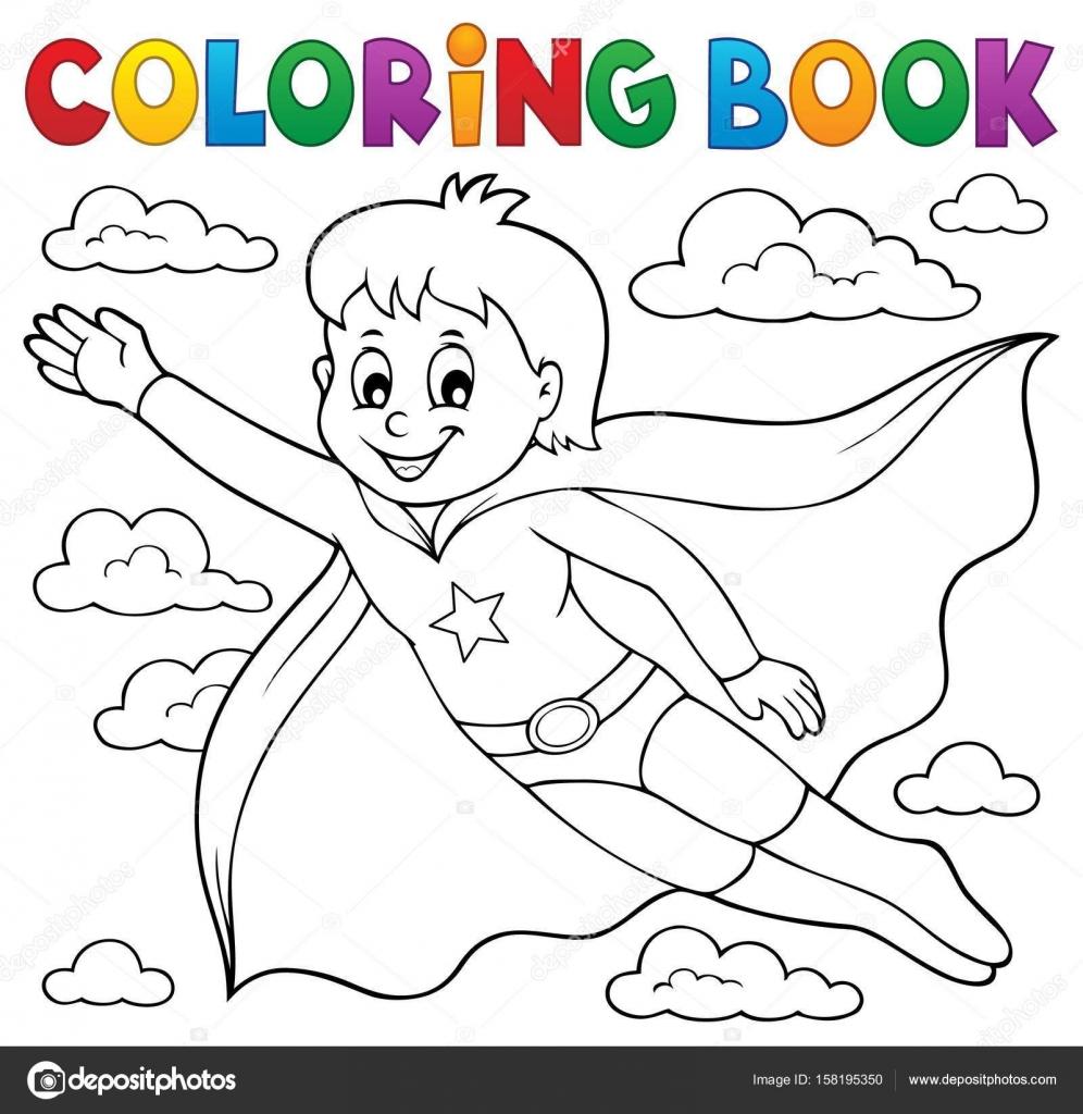 Malvorlagen Superhelden junge Buchthema 1 — Stockvektor © clairev ...