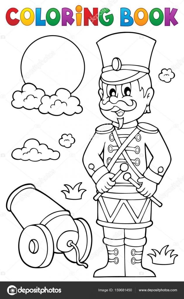 Boyama Kitabı Retro Asker Stok Vektör Clairev 159681450