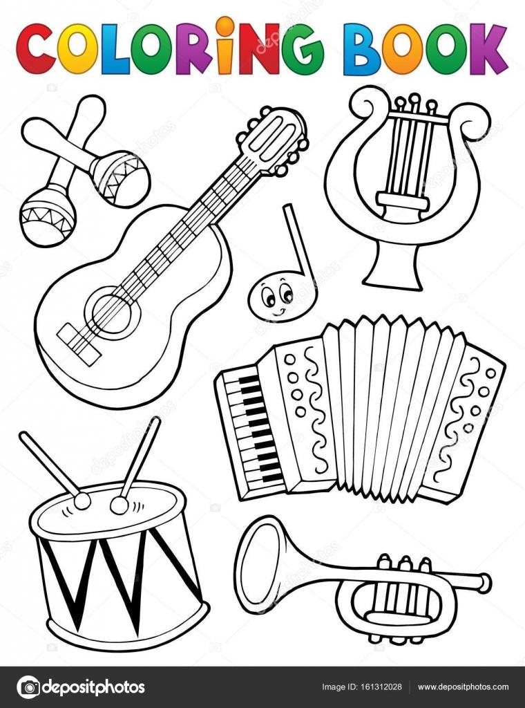 Instrumentos de la música de libro para colorear 1 — Archivo ...