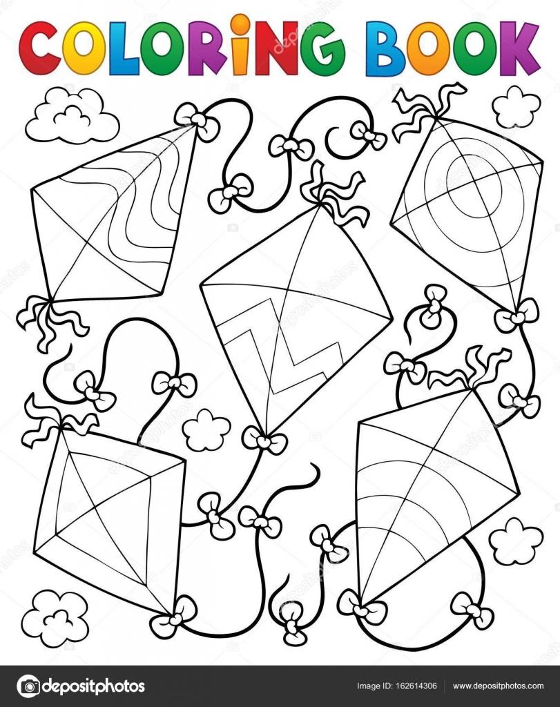 Livre de coloriage cerf-volant — Image vectorielle clairev ...