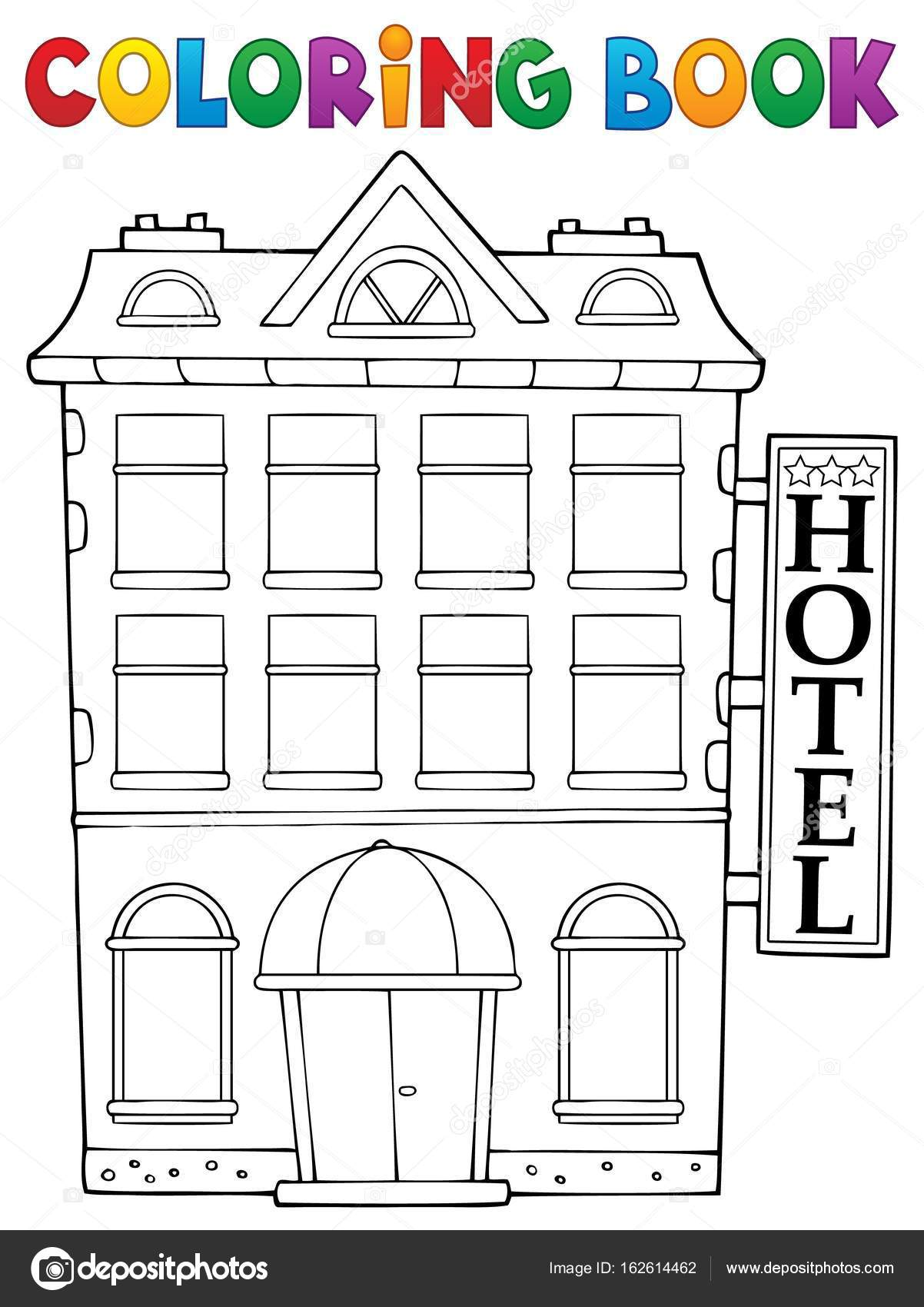 coloring pages hotel - photo#11