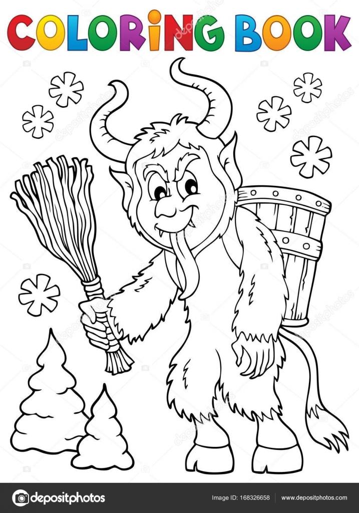 ᐈ Cartoon Krampus Stock Illustrations Royalty Free Krampus