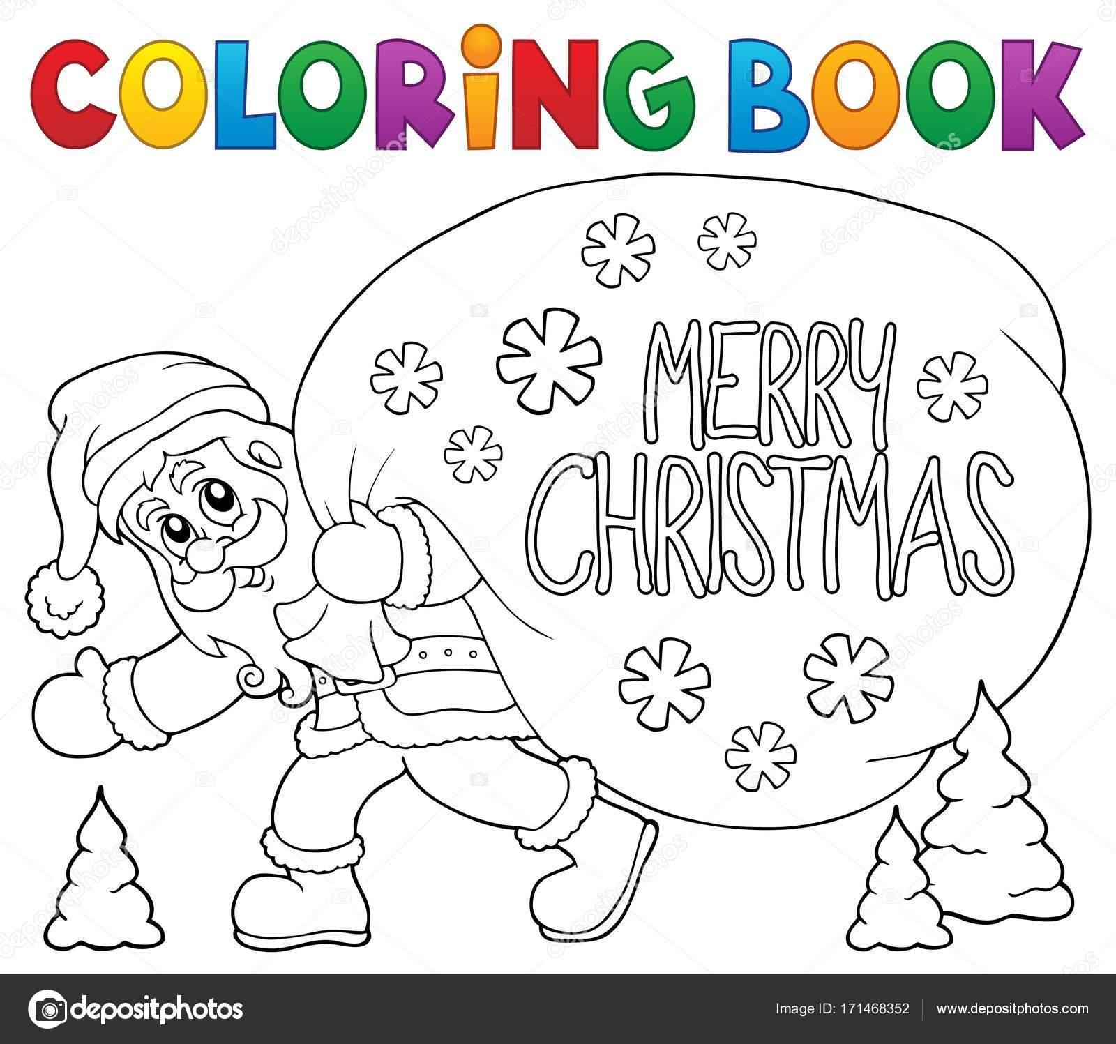 Colorear libro Santa Claus temáticas 6 — Archivo Imágenes ...