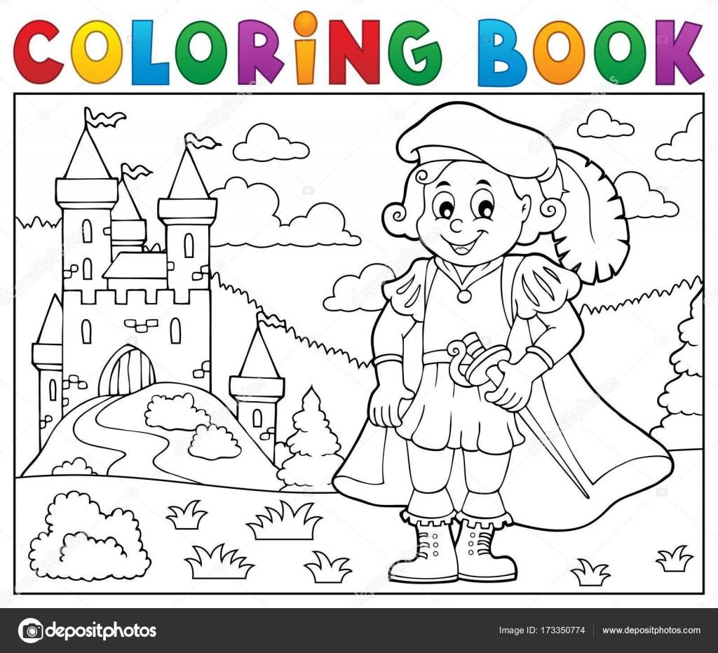 Colorear libro Príncipe y Castillo 2 — Archivo Imágenes Vectoriales ...