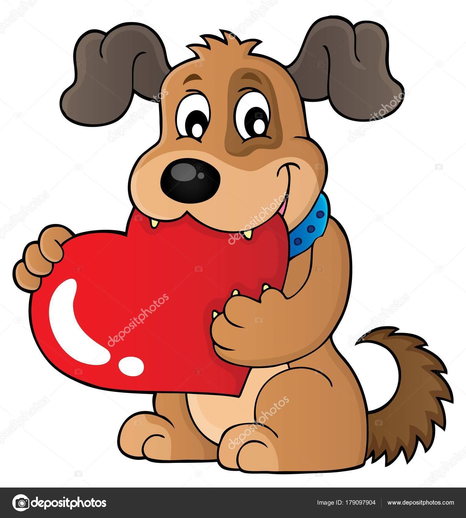 Valentine dog theme image 1 — Stock Vector © clairev #179097904