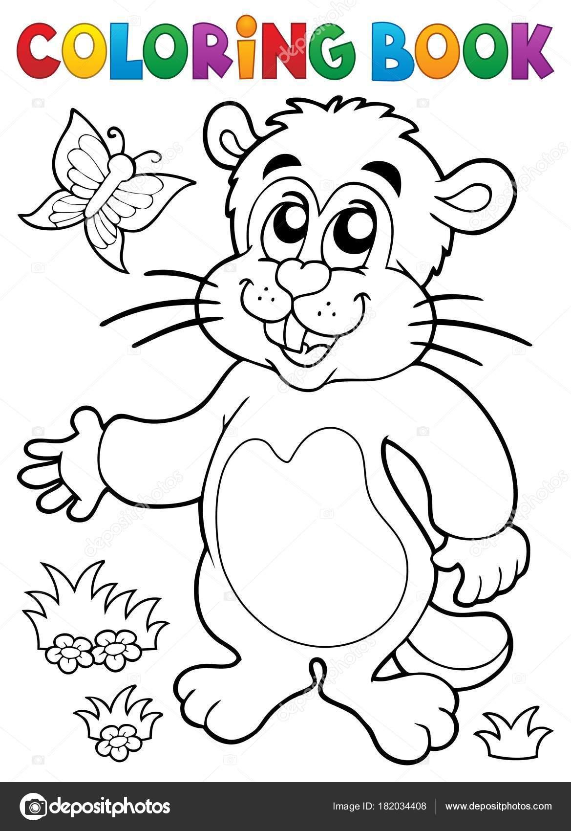 Colorear libro marmota tema de imagen 1 — Vector de stock © clairev ...