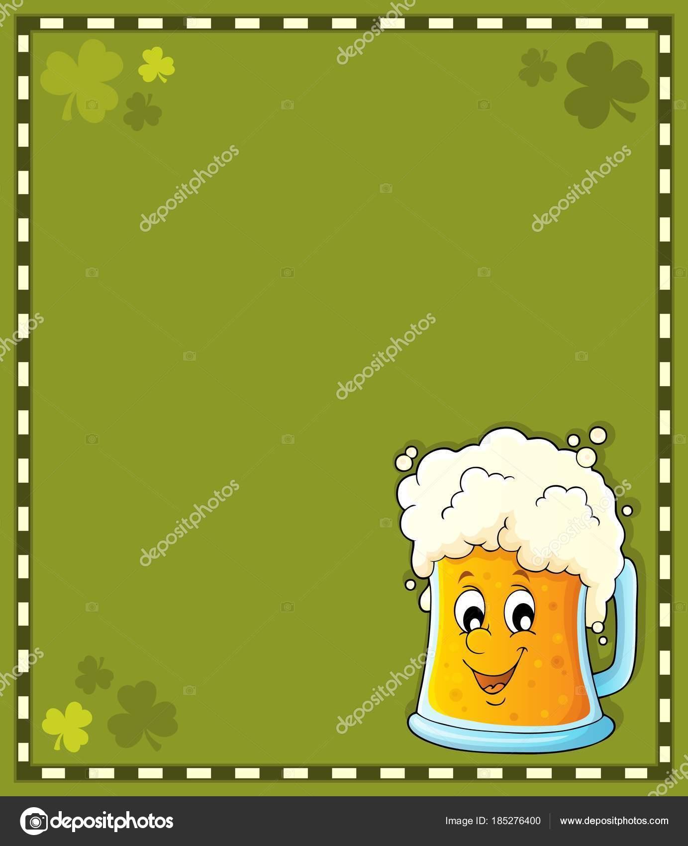 Marco de tema cerveza 1 — Archivo Imágenes Vectoriales © clairev ...