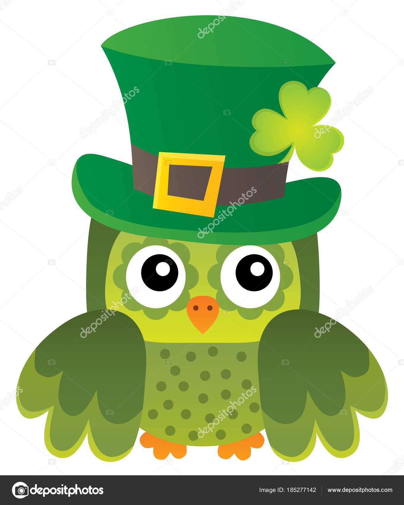 St Patricks Day theme with owl image 1 — Stock Vector ...