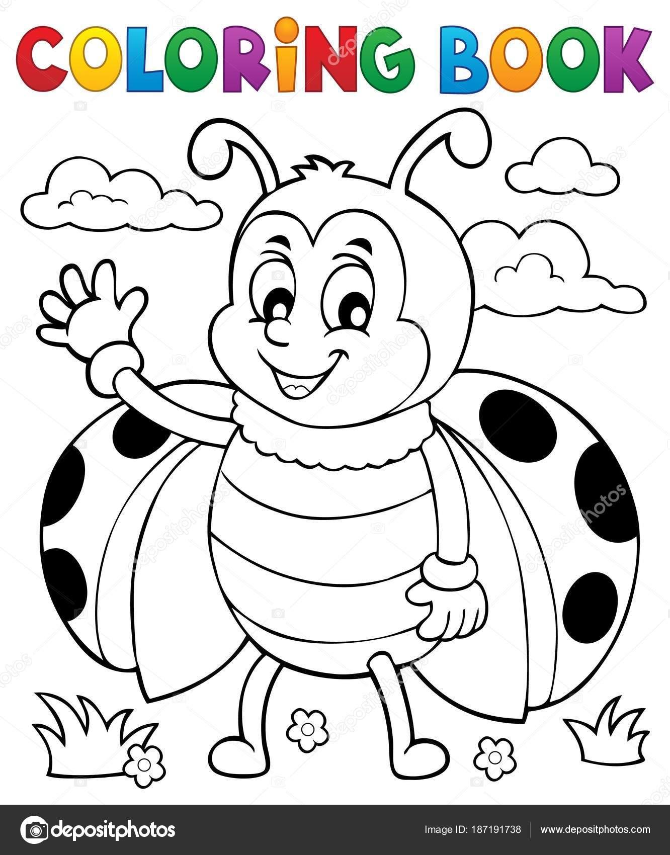 Coloring Boek Lieveheersbeestje Thema 5 Stockvector C Clairev