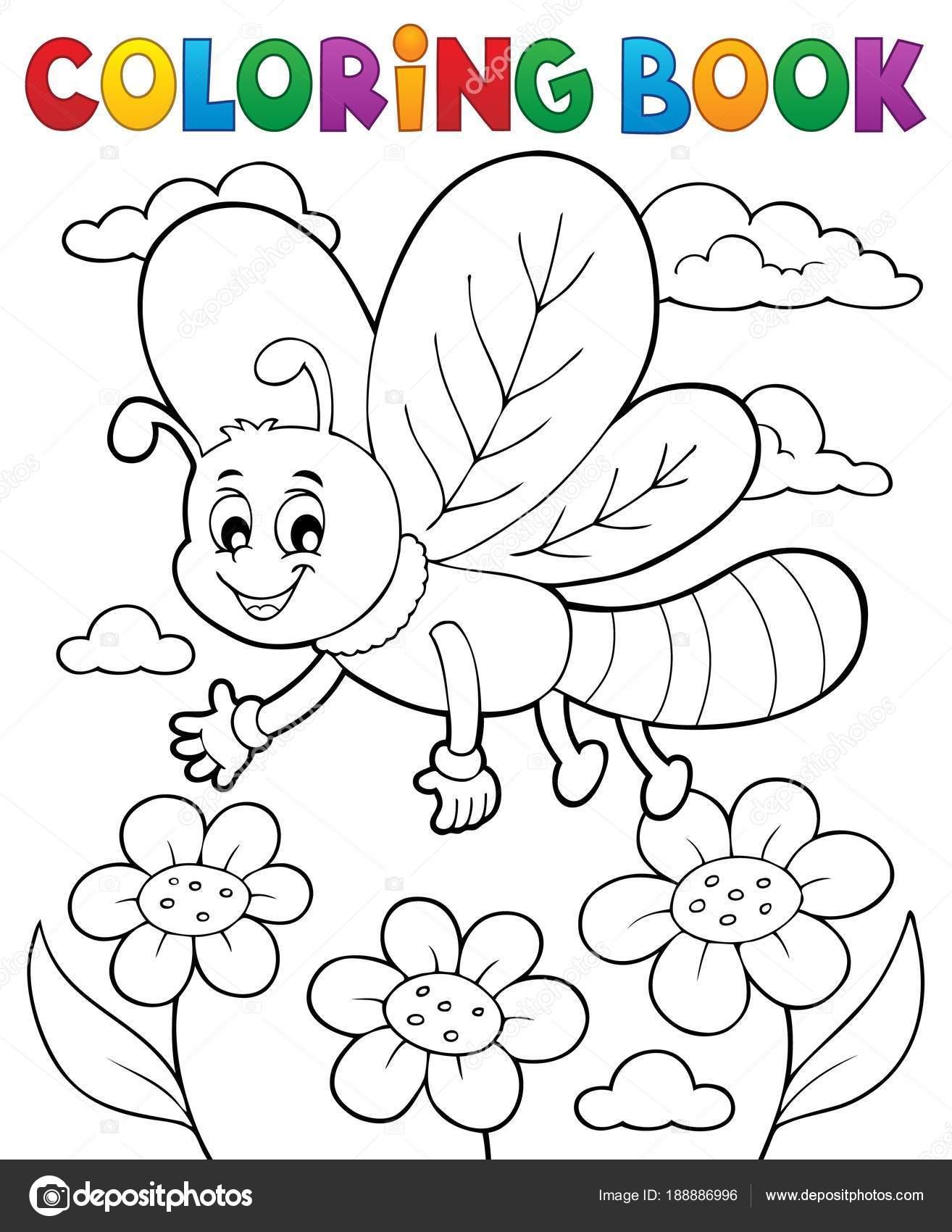 Tema de libélula de libro para colorear 1 — Vector de stock ...