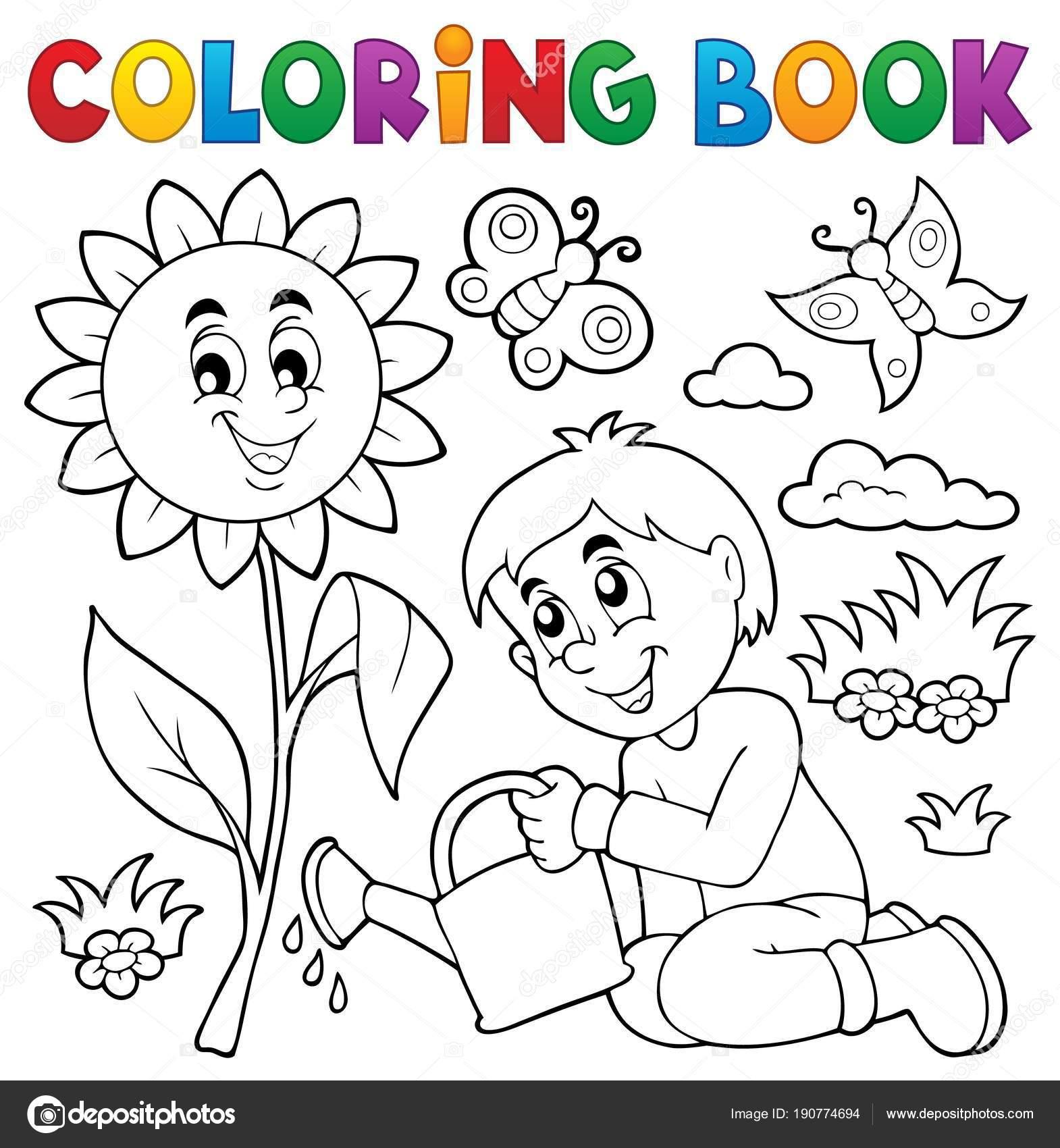thema tuin kleurplaat