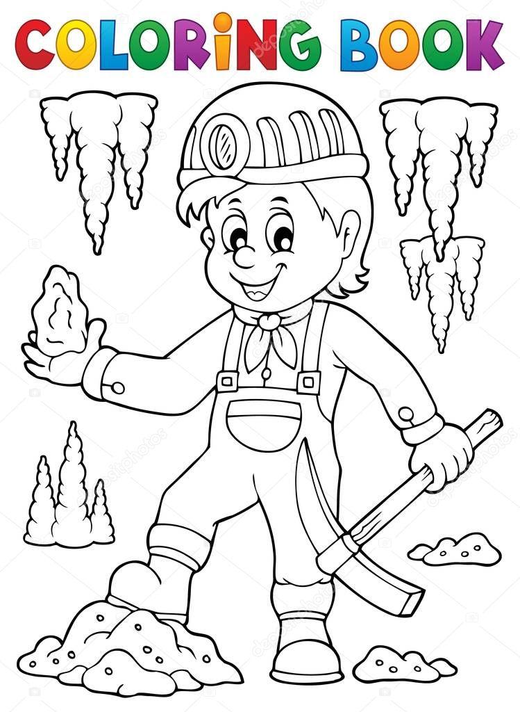 Dibujos Mineria Para Niños Imágenes De Tema De Minero