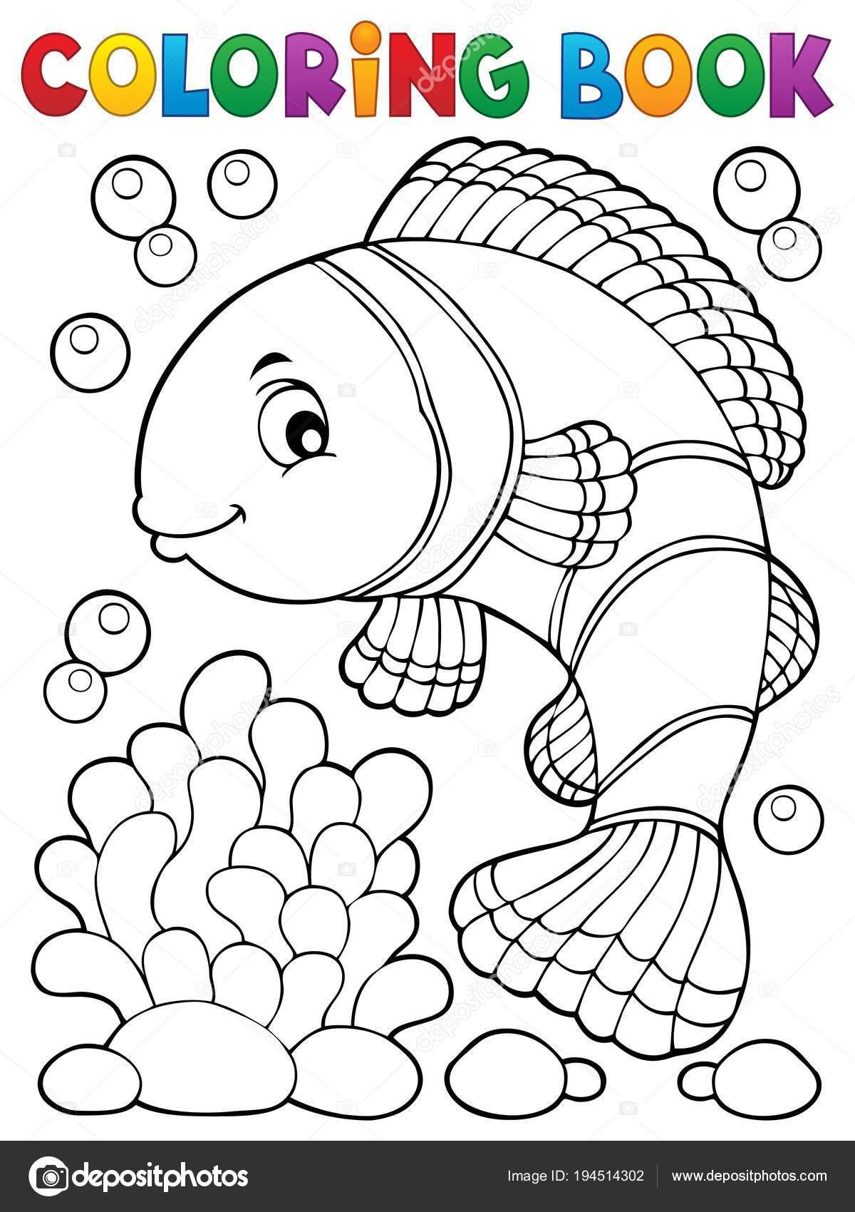 Tema de pez payaso para colorear libro 1 — Archivo Imágenes ...