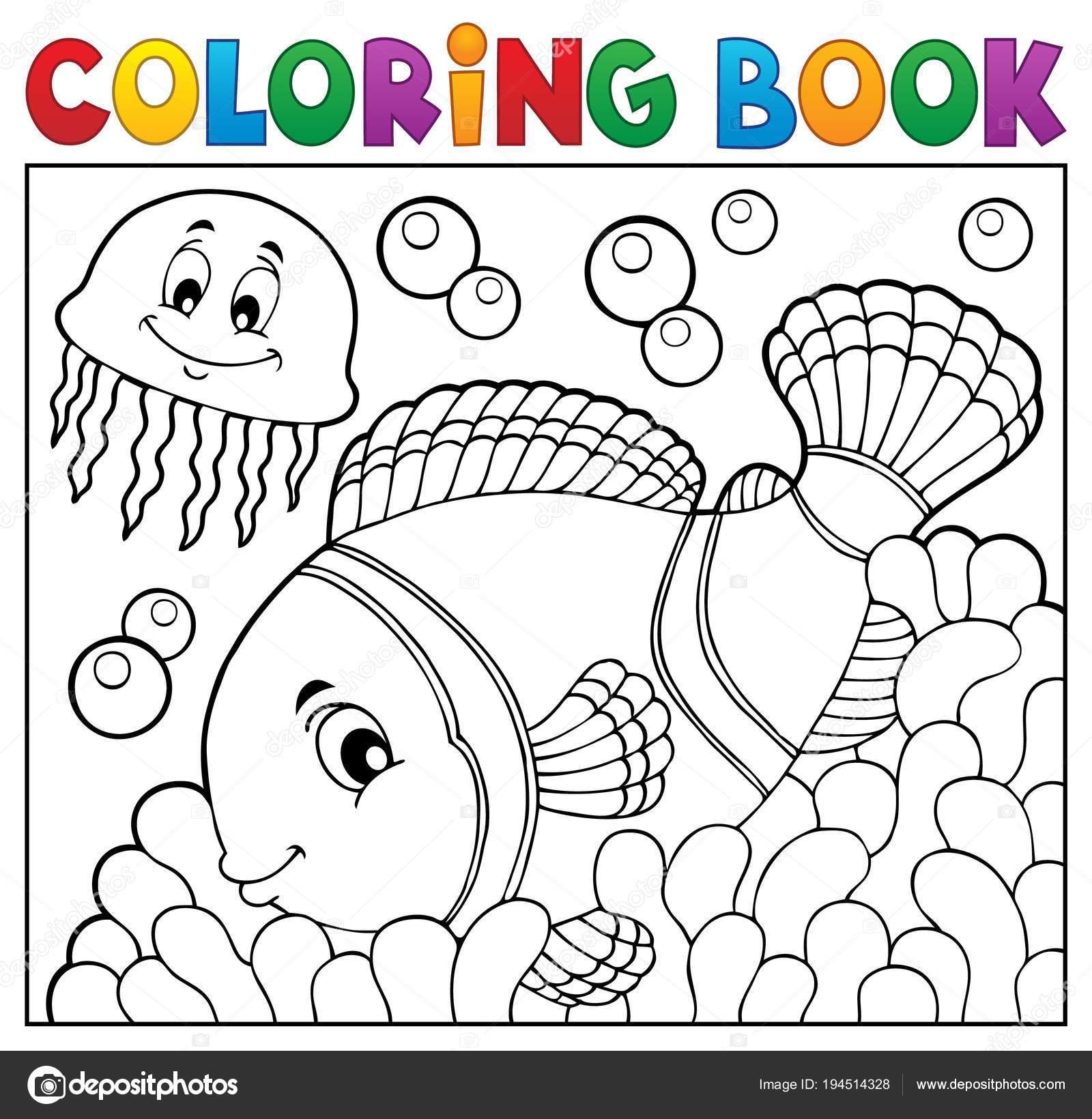 Tema de pez payaso para colorear libro 2 — Vector de stock © clairev ...