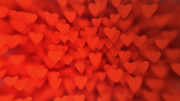 červené srdce bokeh