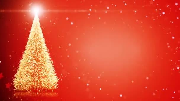 Veselé vánoční přání: vánoční strom s lehké sněhové vločky