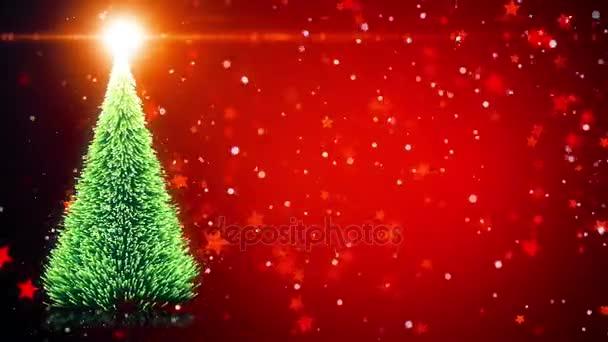 Merry christmas greeting card christmas tree with shining light merry christmas greeting card christmas tree with shining light falling snowflakes and stars m4hsunfo