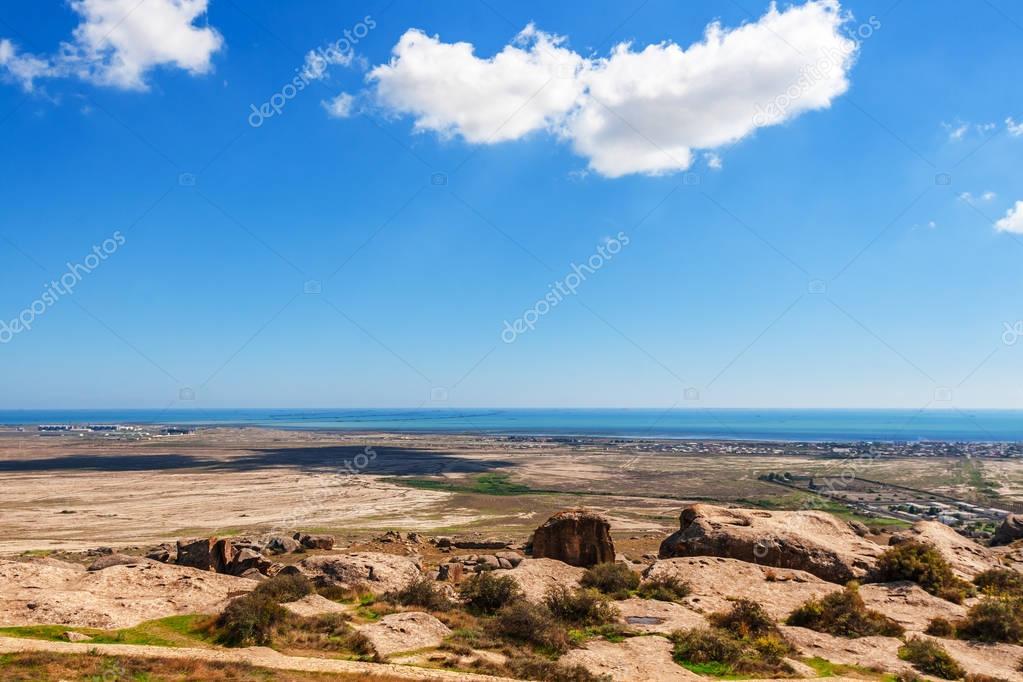 landscape of Caspian coast
