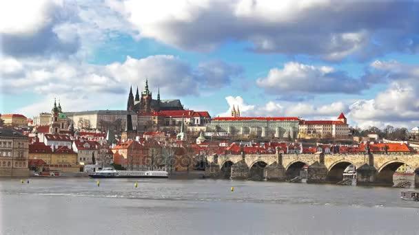Panorama Prahy se Karlův most