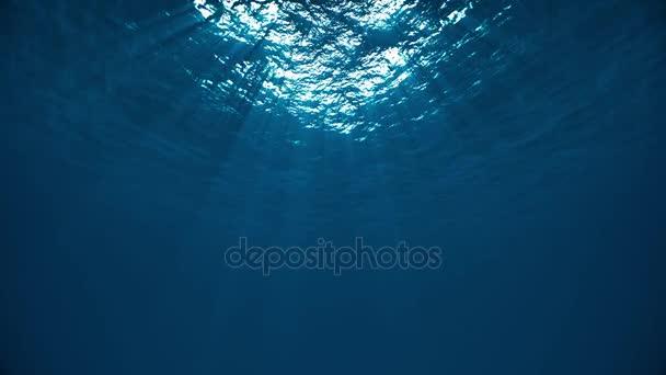 Prázdné světlo pod vodou