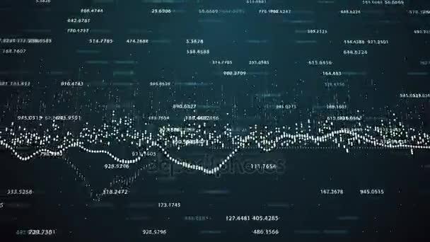 növekvő grafikonok és a számok áramló számlálók