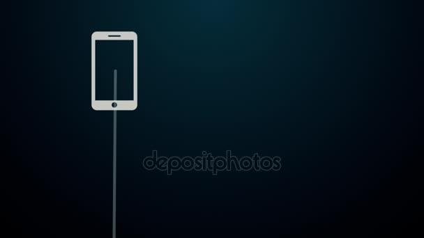 mobilní připojení vytvořením cloudu obrazce