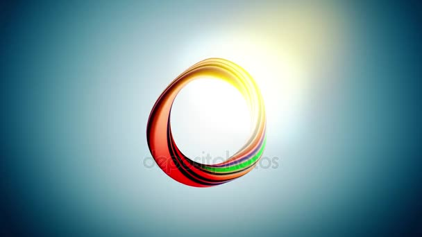 colorful circle on blue background