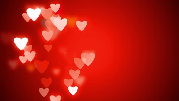 Valentines day greeting video card