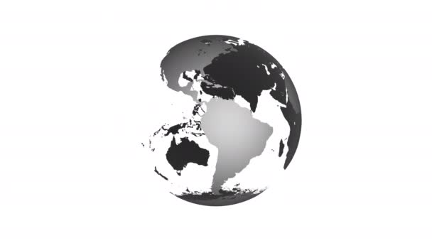 Animace rotujícího světa planety země