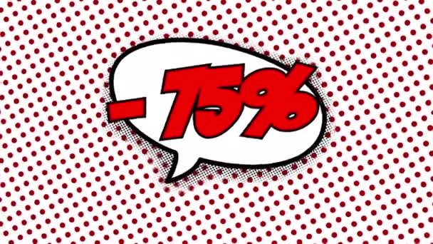 75 % slevu text bublina