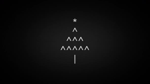 Merry Christmas Text Symbols On Laptop Screen Stock Video