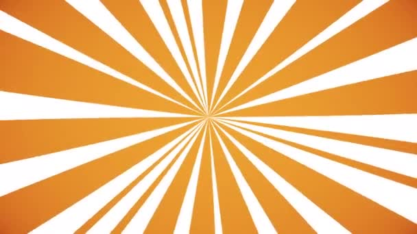 sun rays, simple 2D seamless animation with rotating orange lines