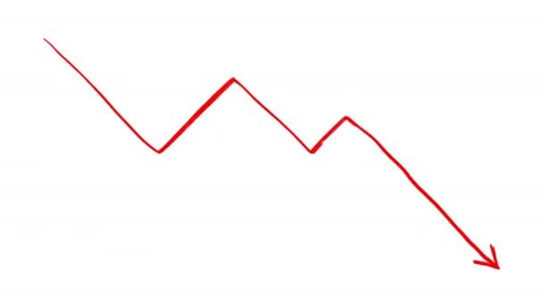 Kunstwerk Animation des fallenden Chart