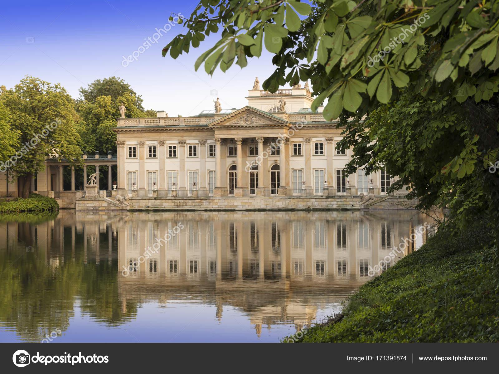 Zabytki Warszawy Lazienki Palace W Stolicy Polski Warszawie