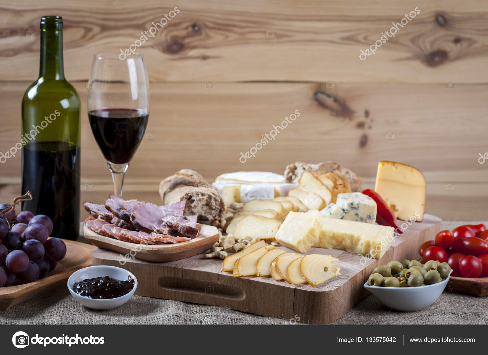 Cheese Platter And Wine A Light Snack Stock Photo C Rlat28 133575042