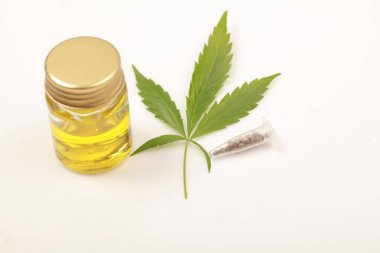 Cannabis leaves CBD oil hemp products