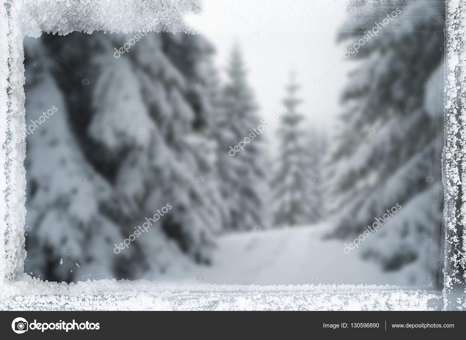 Fondo de Navidad con marco de helada — Fotos de Stock © Kotenko ...
