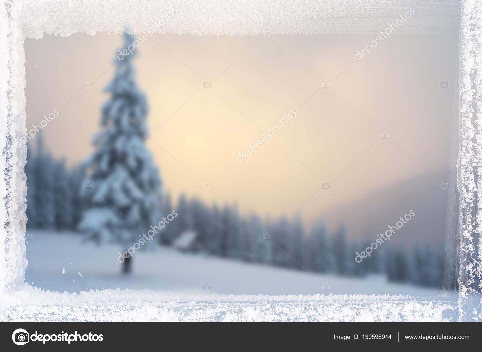 Fondo de Navidad con marco de helada — Foto de stock © Kotenko ...
