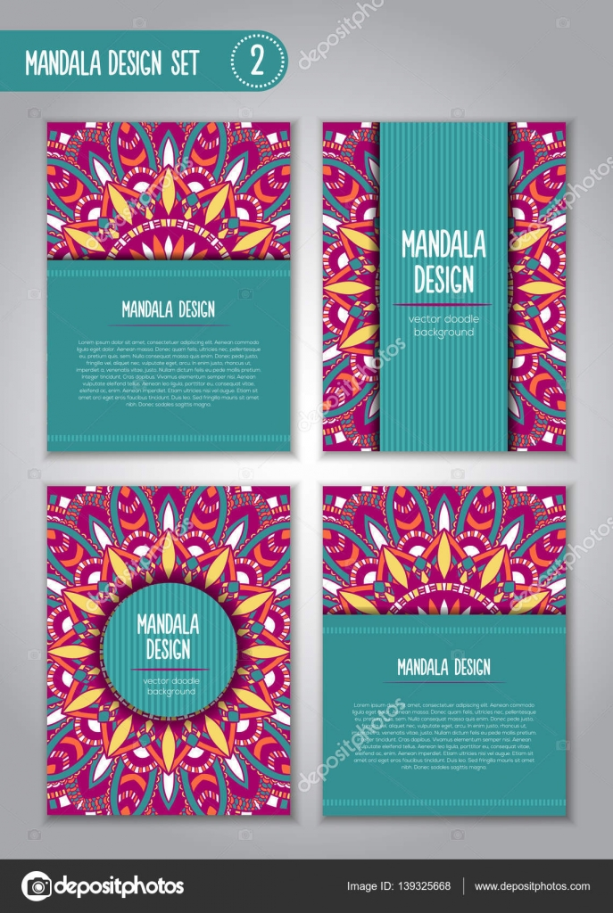 vector tribal business card mandala design ornamental doodle